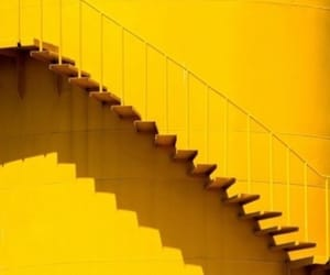 bright, stairs, and yellow image