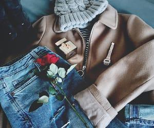 boyfriend jeans, coat, and gucci image