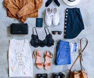 fashion, packing, and travel image