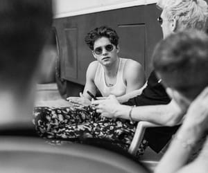 black and white, tristan evans, and james mcvey image