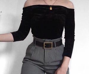 belt, black, and blouse image