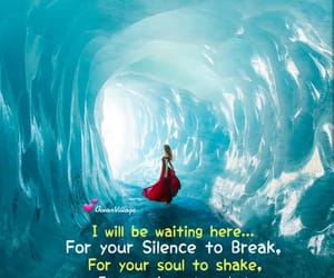 love quote., waiting for you., and soul quote. image