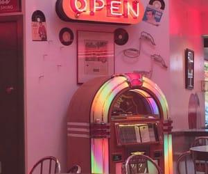 cafe, diner, and jukebox image