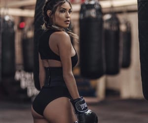 boxing, fitness, and beauty fashion girl image
