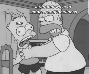 cartoons, simpsons, and depression image