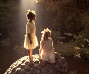 girl, a little princess, and nature image