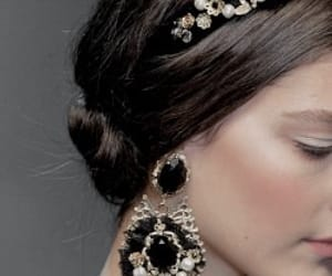 crown, Dolce & Gabbana, and earrings image