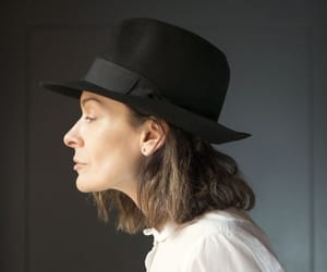 etsy, classy homburg hat, and vintage trilby image