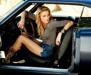 amber heard, blonde, and boots image