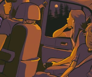 aesthetic, illustration, and Road Trip image