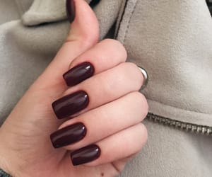 cherry, dark, and manicure image