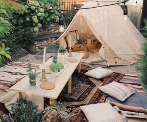 bohemian, cozy, and camping image