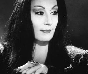 addams family, morticia, and black image