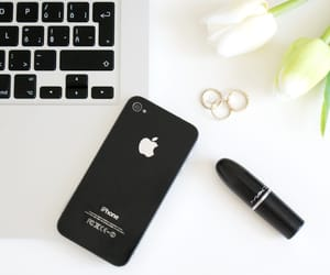 apple, lipstick, and ring image