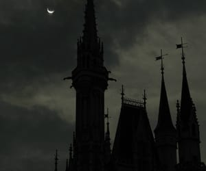 moon, castle, and night image