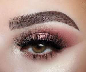 lashes, make up, and rose shadow image