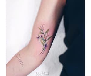 body art, flowers, and tattooed image