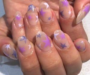 nails, purple, and stars image