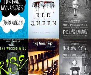 john green, the book thief, and red queen image