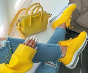 yellow, nails, and bag image