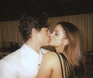 couple, barbara palvin, and kiss image