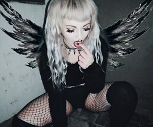 alternative, angel, and black image