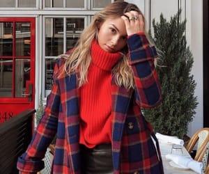 fashion, jacket, and plaid image