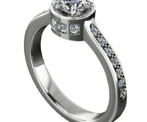diamond ring, fine jewelry, and cathedral setting image