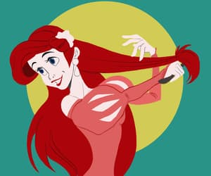 ariel, disney, and disney princess image