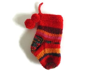 christmas stocking, etsy, and ooak image