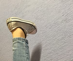 converse, glitter, and cool image