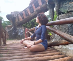 baby girl, curly hair, and hippie image