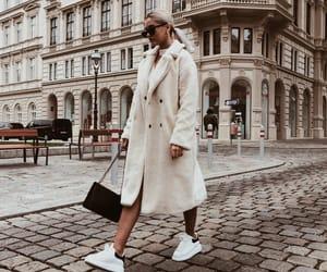 city, coat, and fall image