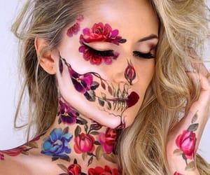 flowers, Halloween, and make image