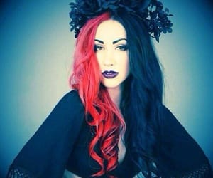 flower crown, ash costello, and goth image