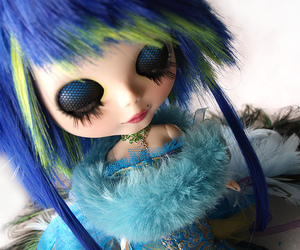 blue, blythe, and doll image