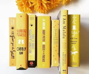book, yellow, and aesthetic image
