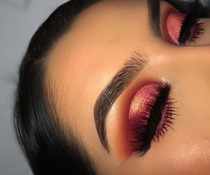 eyebrows, beauty, and makeup image