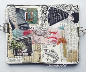 art, art journal, and Collage image