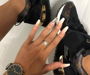 shoes, nails, and Louis Vuitton image