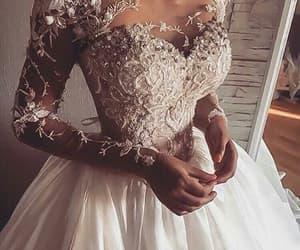 bride, wedding dress, and novias image