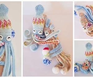 amigurumi, crochet, and squid image