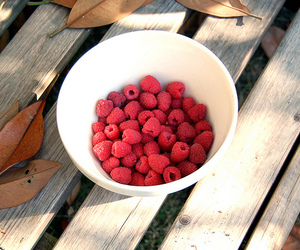 raspberry, bowl, and fall image