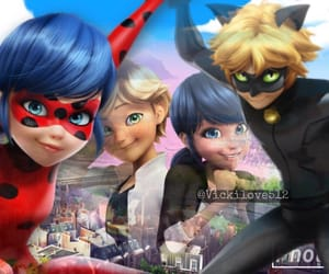 Chat Noir, marionette, and miraculous ladybug image
