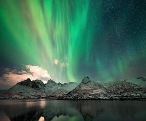 aurora, colorful, and ice image