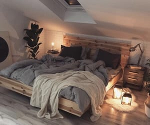home, bedroom, and light image