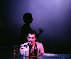 Queen, Freddie Mercury, and john deacon image