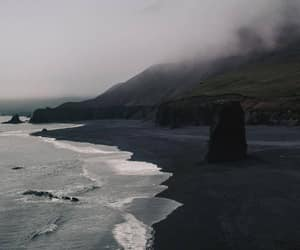 beach, black, and gloomy image
