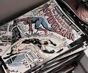 comic, Marvel, and retro image