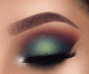 glitter, golden, and lashes image